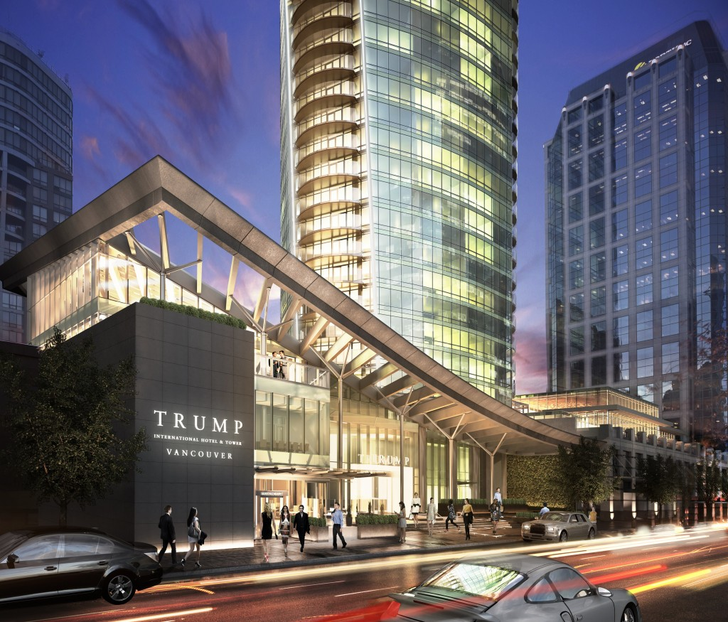 Trump Tower Street Level Rendering Night Mike Stewart