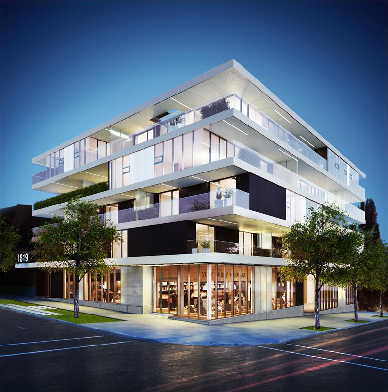 West Five Exterior Rendering Mike Stewart Vancouver Presales