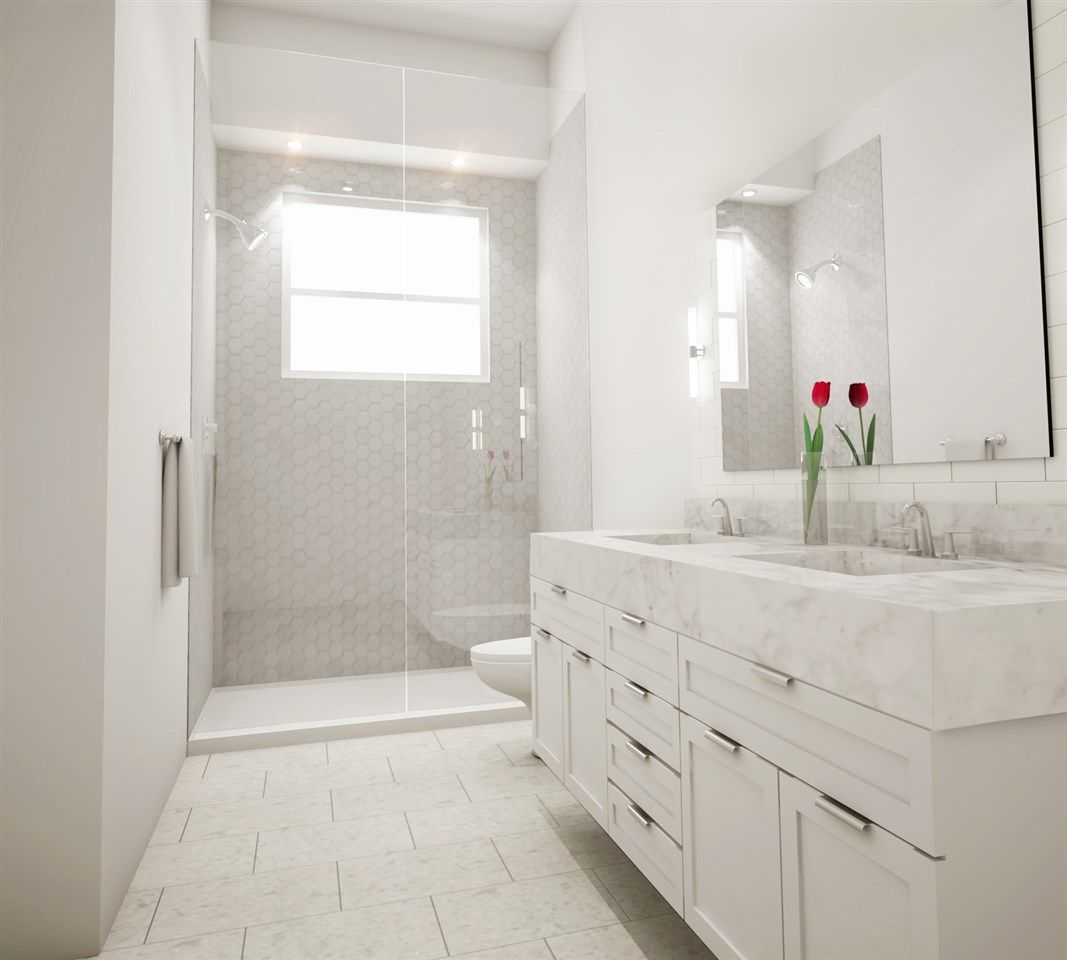 Bathroom design concept for Brookhouse Residences in Grandview Woodland neighbourhood.
