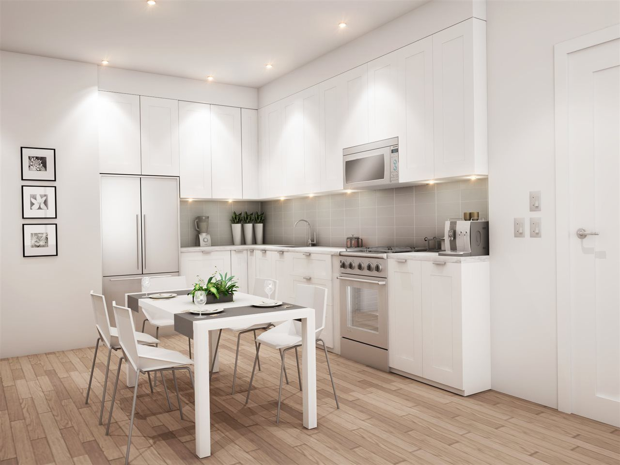 Kitchen design concept for Vancouver's Brookhouse Residences.