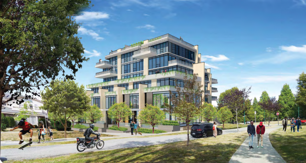 Southern rendering of Cambie + 31st.