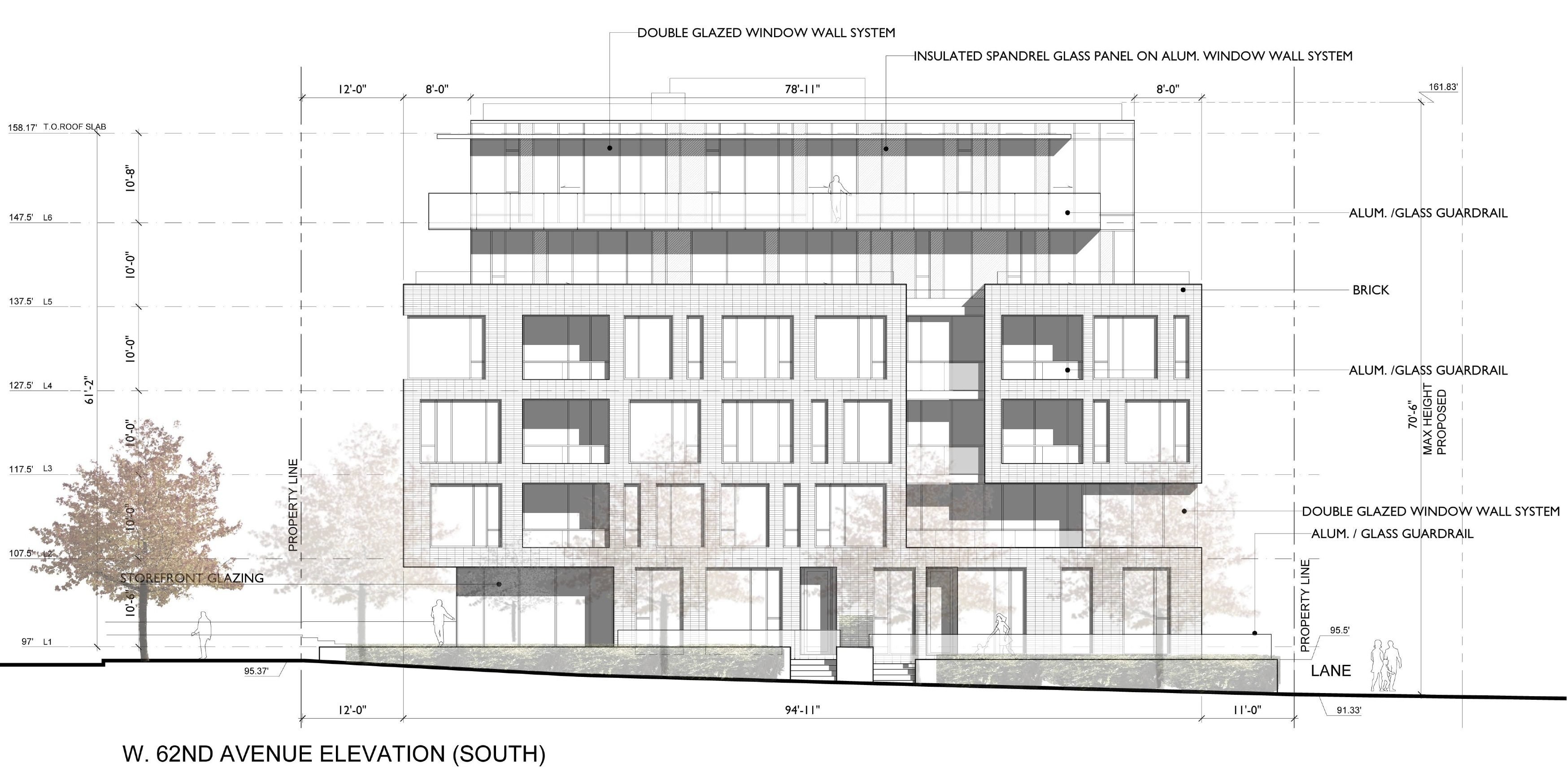 Cambie62 south elevation.
