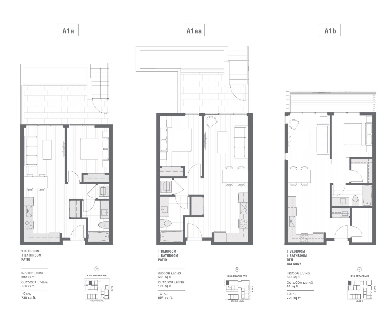 Cambie + King Edward 1-bedroom floorplan.