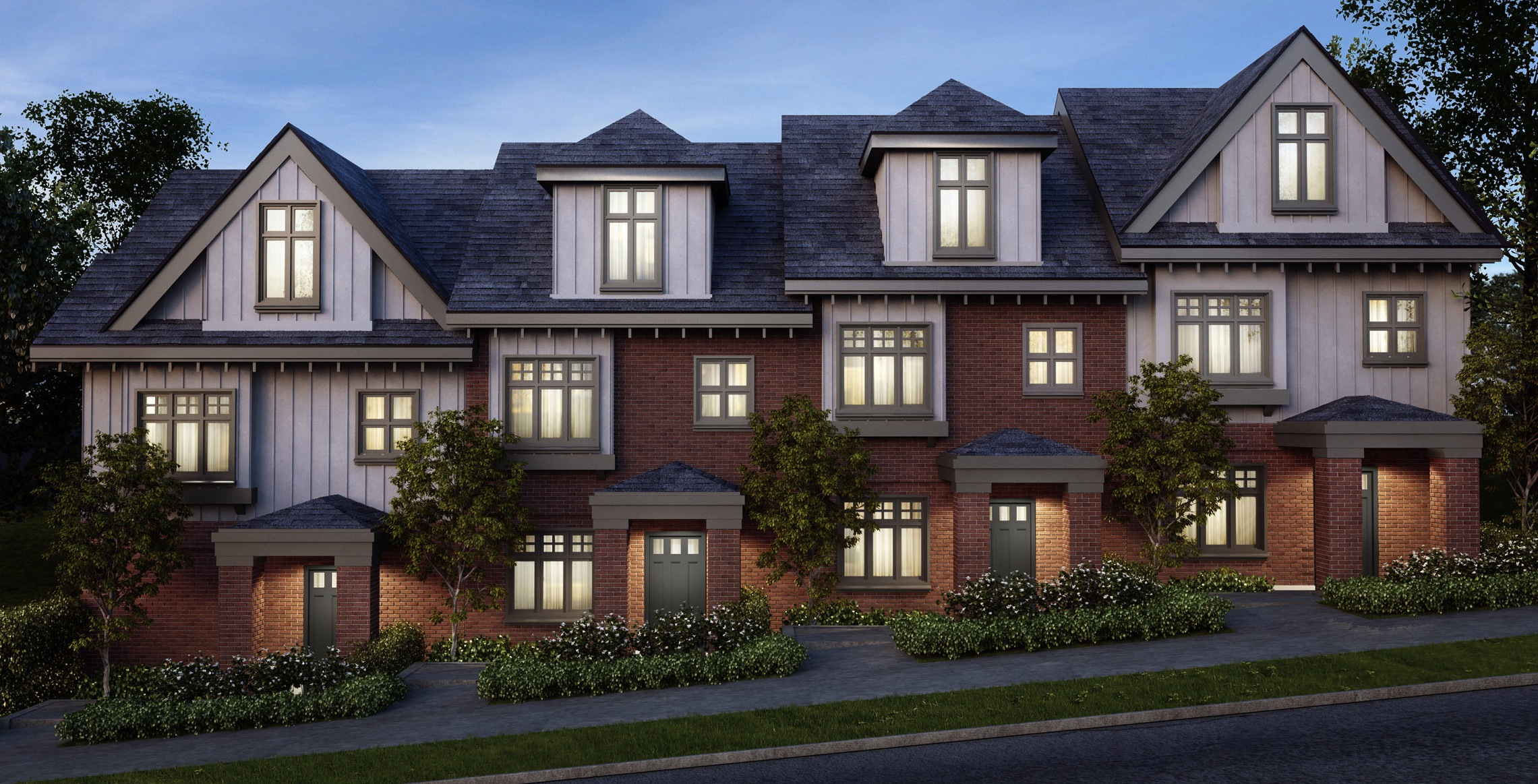 Cambridge Mews – Six Stately South Kerrisdale Brick Townhomes