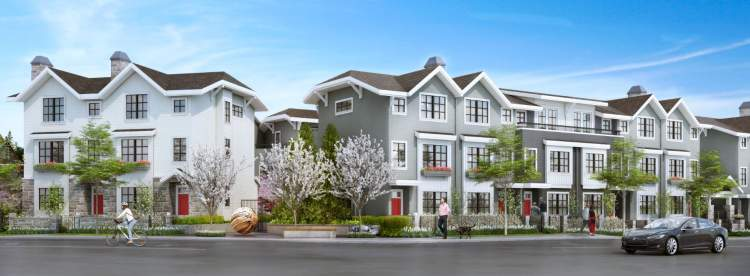 Edgemont Village townhomes in North Vancouver by Boffo Properties.