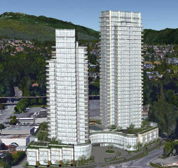 Exterior render of Étoile at Douglas & Goring.