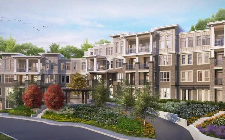 Artist rendering of Headwaters Club lifestyle Morgan Creek condos by Lakewood.