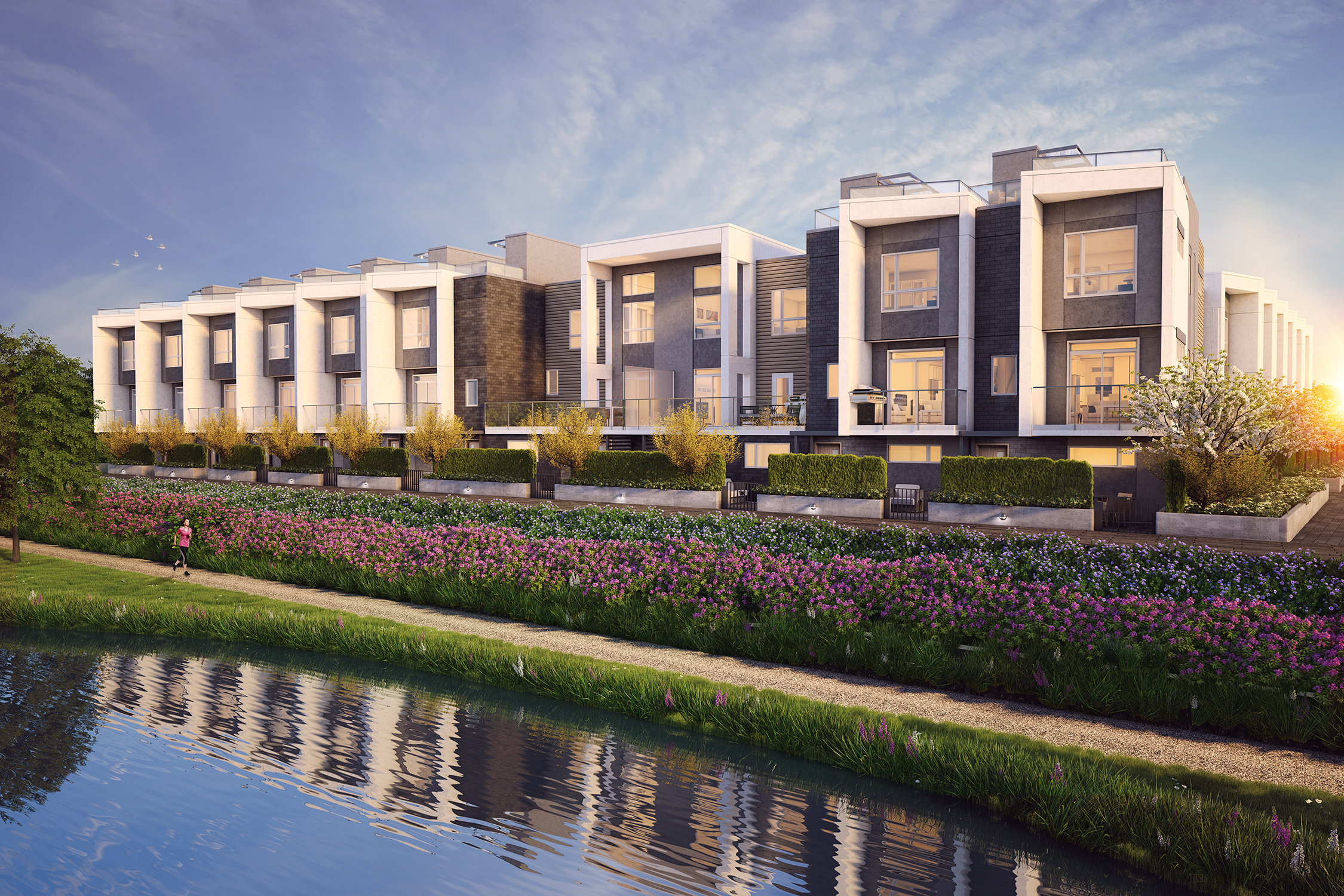 Artist rendering of Jasmine at The Gardens Richmond townhouses.
