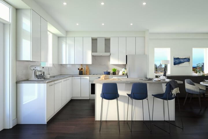 Kitchen concept for Jasmine at The Gardens by i3 Design Group.