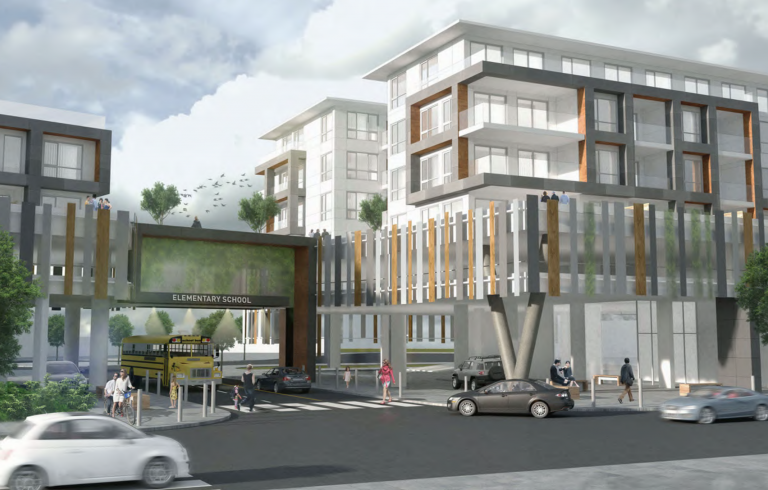 Artist rendering of Downtown Squamish mixed-use development by LT Wave Holdings.