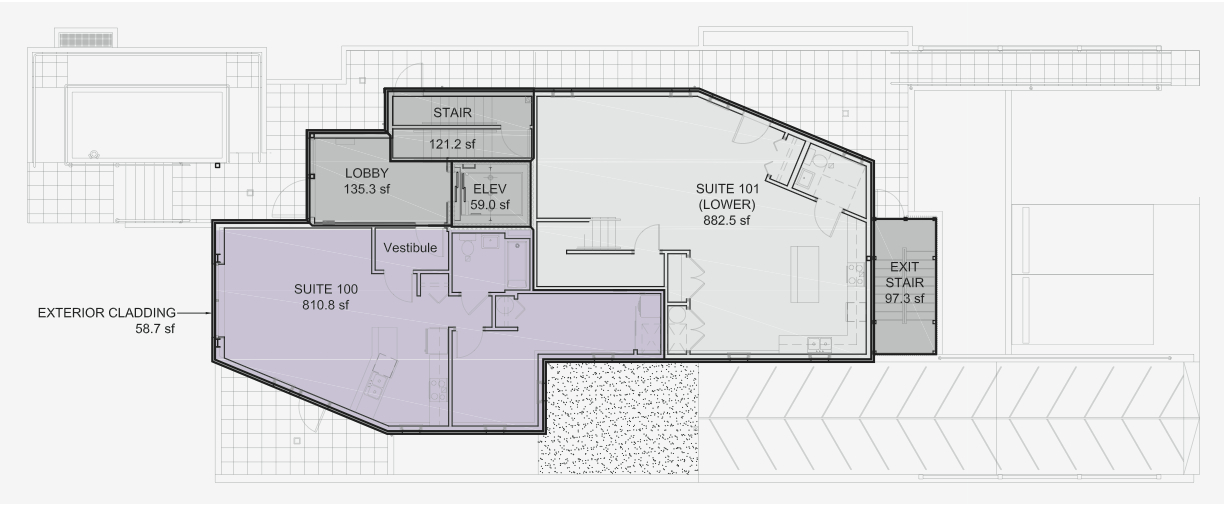 Floorplan for lilacHAUS unit #100.