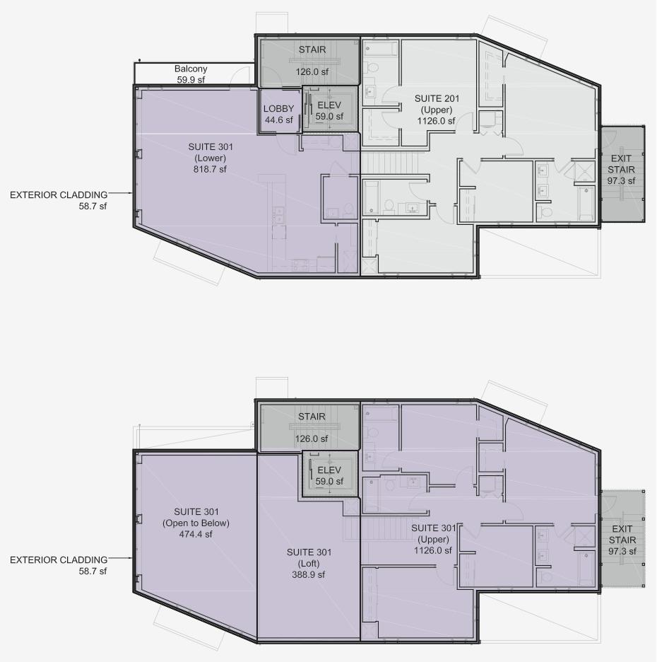Floorplan for lilacHAUS Passivhaus unit #301.
