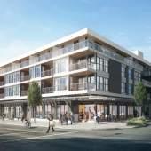 Artist rendering of Main & Twentieth Vancouver presale condos.