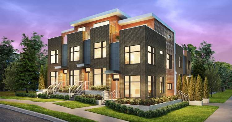 Exterior rendering of Monogram by Alliance Partners.