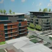 Artist rendering of Vantac Holding's Cambie Corridor condominium development.
