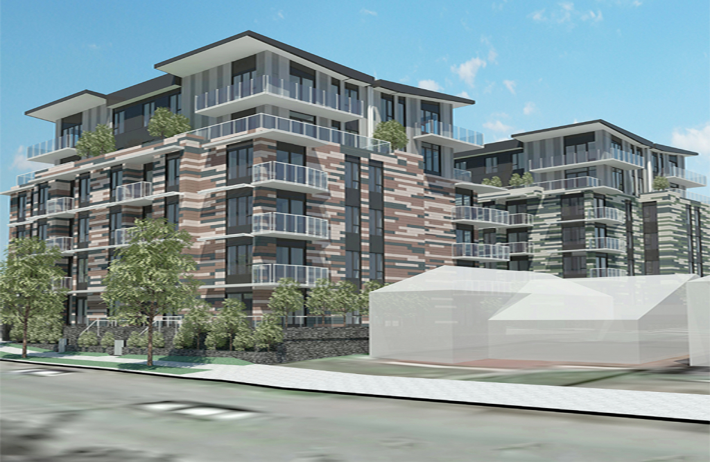 Rendering of Cambie Corridor luxury condos by Francl Architecture.