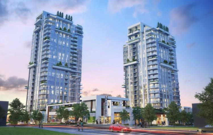 Rendering of Park West at Lions Gate in North Vancouver.