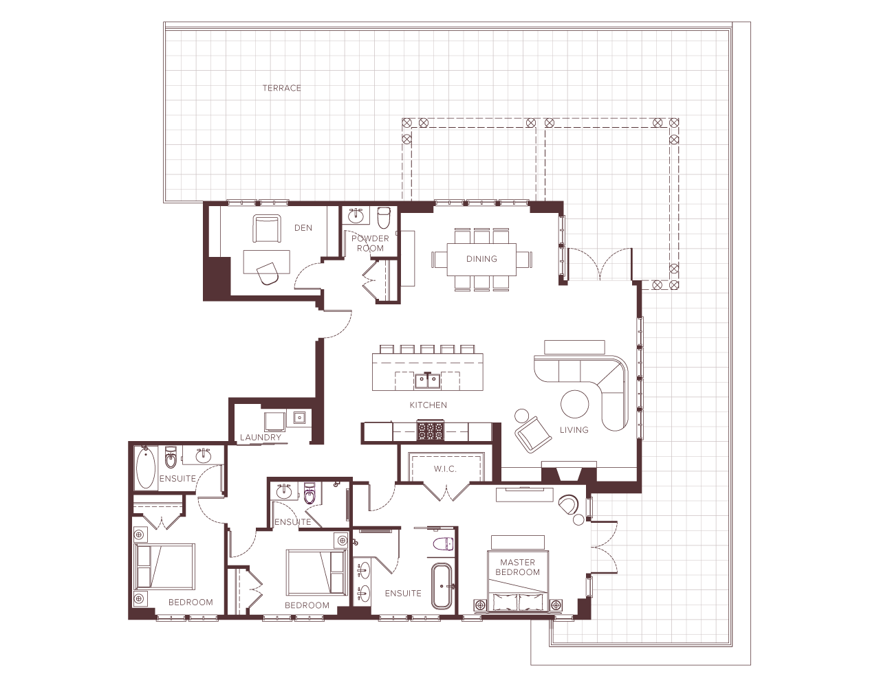 Chateau Laurier penthouse floorplan.