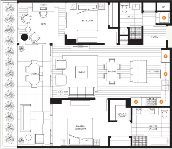 Evelyn On Forest's-Edge Three & Four floor plan B.