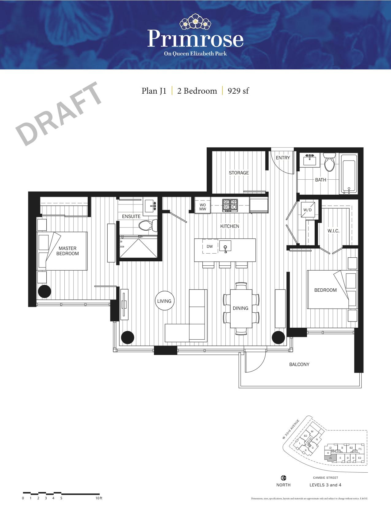 Primrose Floor Plan J1.