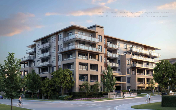 Artist's concept of Regan West, the latest condominum development near Burquitlam Station.