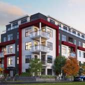 External rendering of The Crest at Queen E Park by Forrester Group.