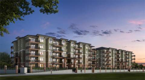 Artist Rendering Of The Georgia, Langley Presale Condos By Whitetail Homes.
