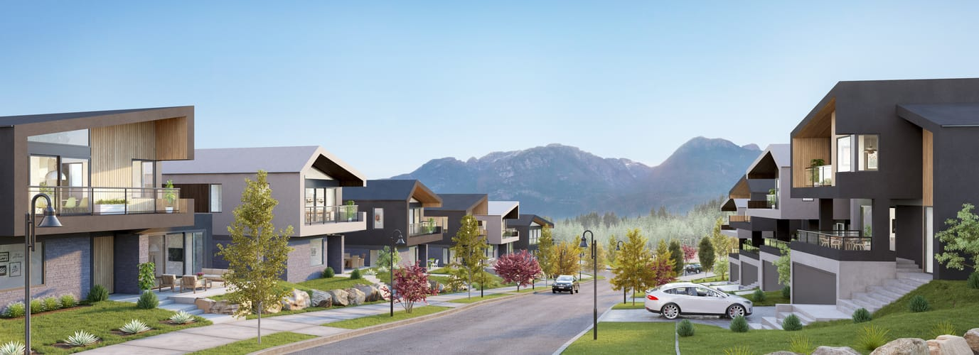 Concept for Phase 2 of the University Heights subdivision in Squamish.