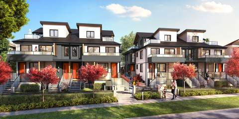 New Norquay Presale Townhouses In East Vancouver By Vicini Homes.