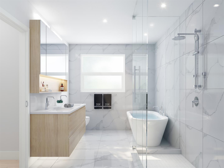 Gannon Ross Designs concept for Zeo Kits en suite bathrooms.