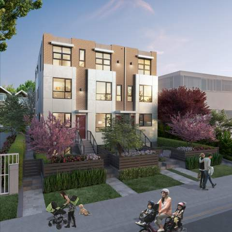Five Contemporary West Side Vancouver Townhomes.