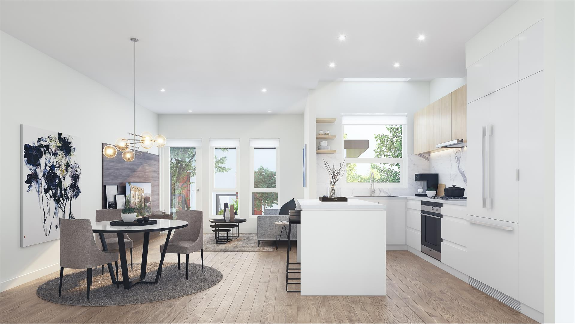 Zeo Kits main floor concept by Gannon Ross Designs.
