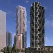 Artistic rendering of new Coquitlam real estate development designed by Chris Dikeakos Architects.