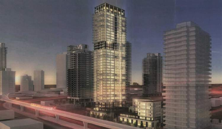 New Burquitlam mixed-use development at North Road and Foster Avenue.