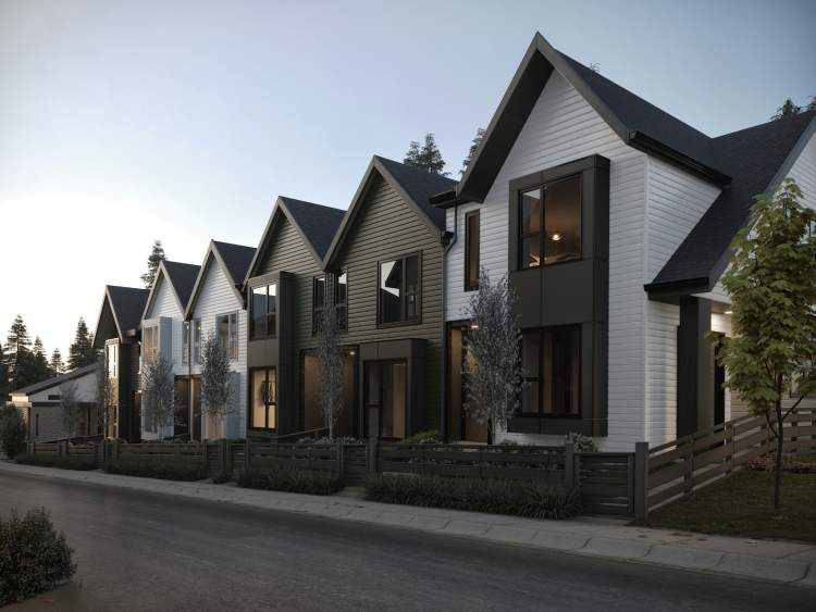 Coming soon to Coquitlam, Aalto Townhomes designed by Ramsay Worden Architects.