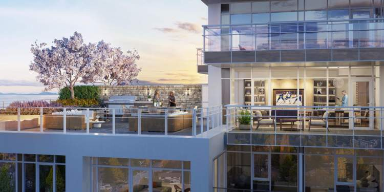 Enjoy rewarding panoramic views of the ocean and mountains from Altus White Rock.