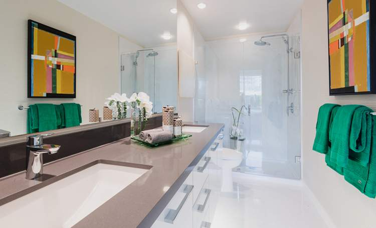 Berkeley House spa-inspired bathrooms are retreats rich in design and detail.