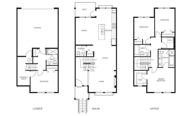 Beaufort Landing Plan C: 4 bedrooms, 3.5 bathrooms, 1,850 sq ft.