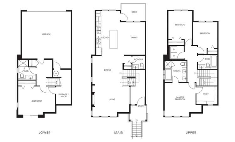 Beaufort Landing Plan E: 4 bedrooms, 3.5 bathrooms, 1,980 sq ft.