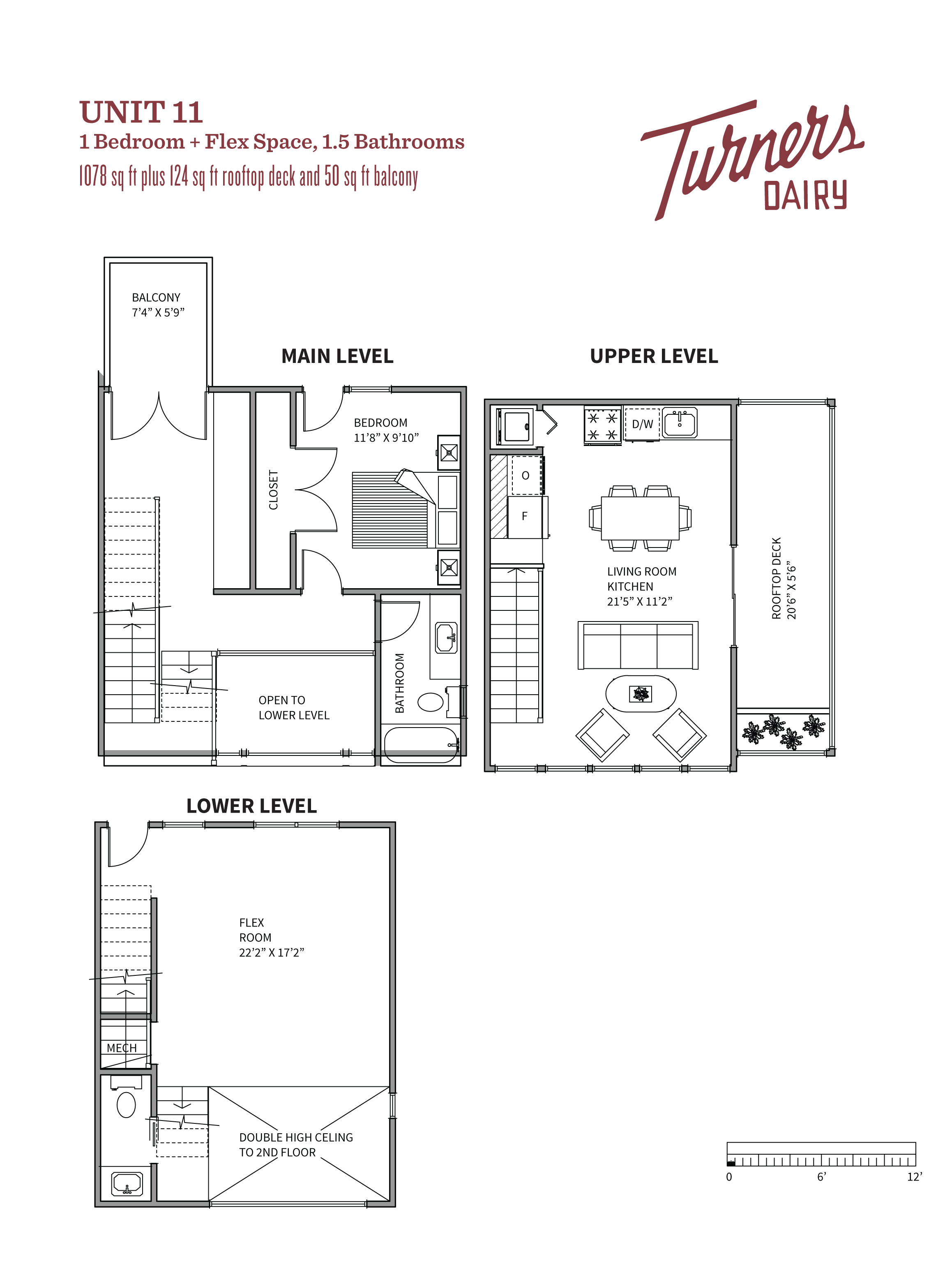 Thumbnail of Unit 11 floorplan of Turners Dairy Riley Park townhomes.