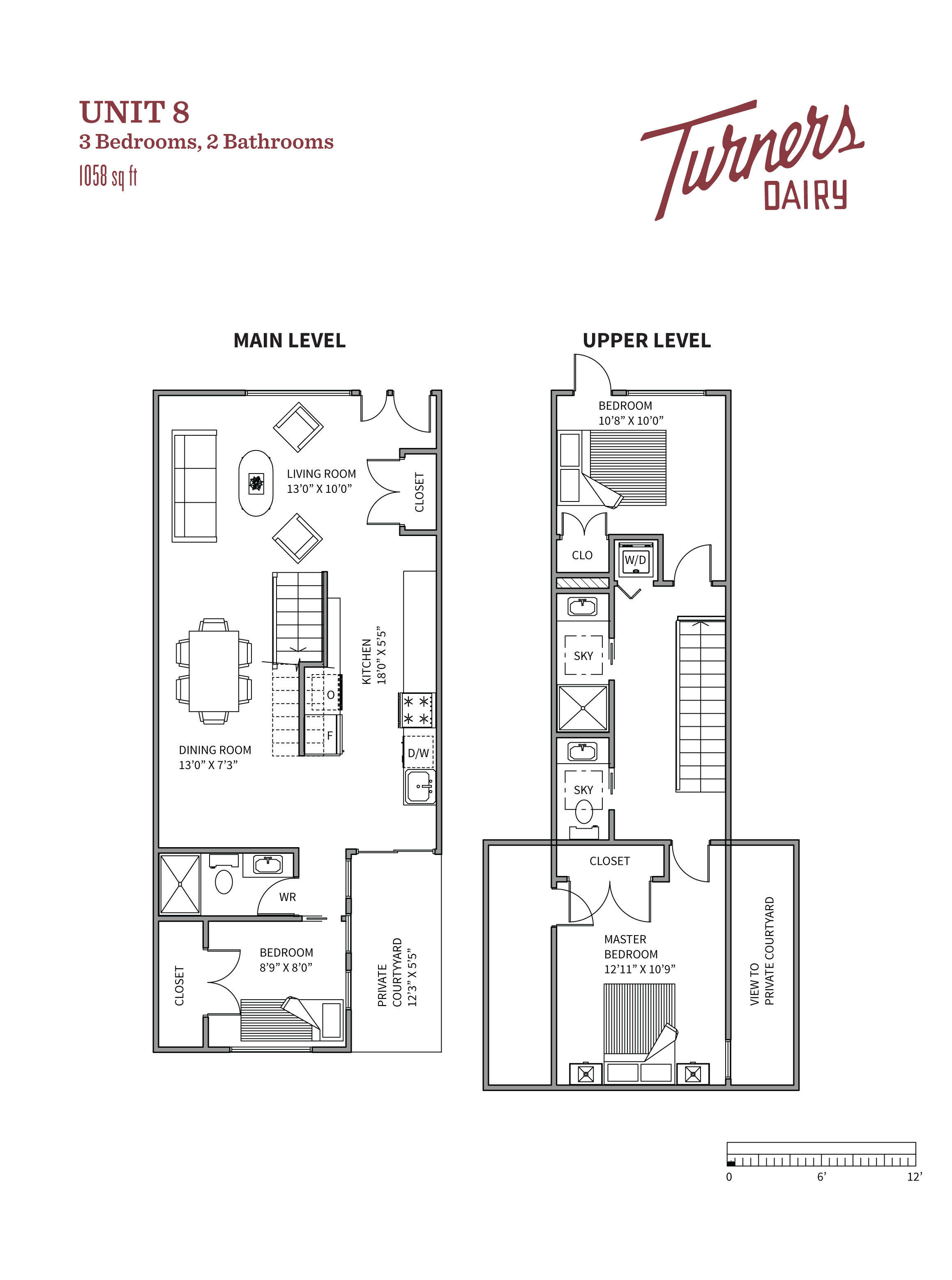 Thumbnail of Unit 8 floorplan of Turners Dairy Riley Park townhomes.