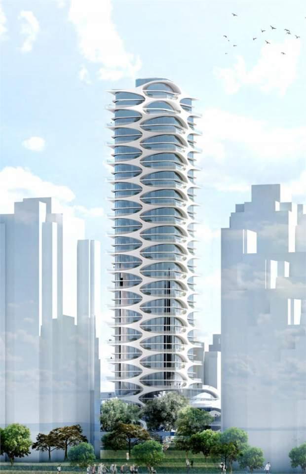 Coming soon to Davie Village, landmark presale condos designed by Bing Thom Architects.