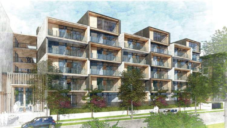 Module A in this Port Royal development from Aragon, is a modular block of flats and lofts.