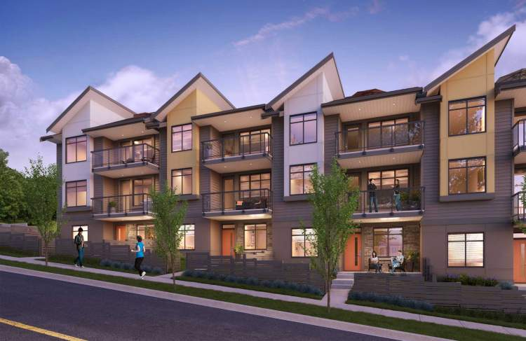 Coming soon to Burke Mountain in Coquitlam, presale executive townhomes desigend by Focus Architecture.