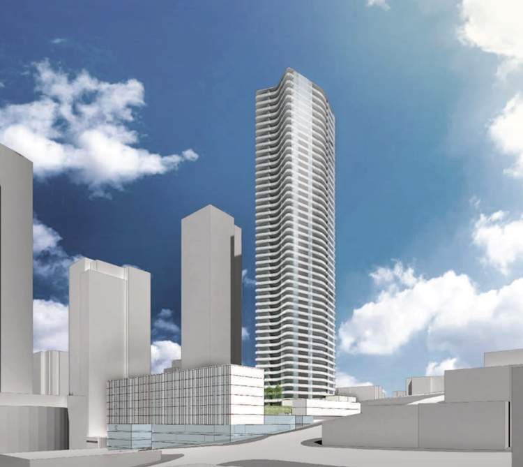 A new residential tower coming soon to Downtown New Westminster designed by Yamamoto Architects.