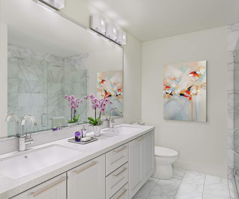 Interior design concept for Fleetwood's Crest townhome en suites by Hayer Developers Group.
