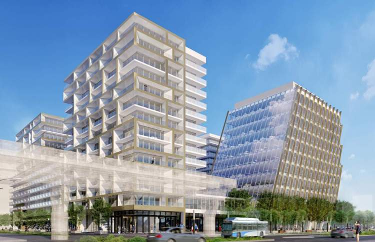 Coming soon to Richmond Centre, presale condos, office & retail space designed by GBL Architects.