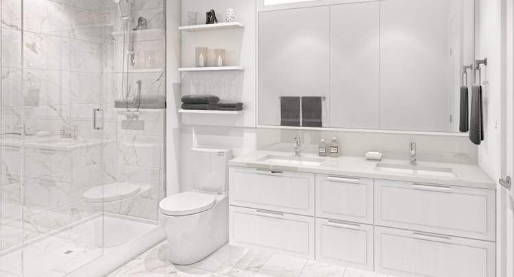 Relax in your spa-inspired bathroom at Union Living by Square Nine.