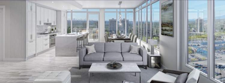 Living room design concept for Union condominiums by Cristina Oberti Interior Design.