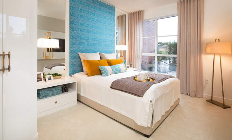 This is how your Union Park bedroom could be when you purchase a new Willoughby residence from Polygon Homes.